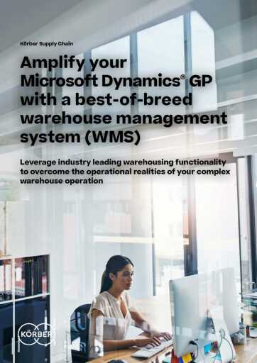 Amplify Dynamics GP with Best-Of-Breed WMS