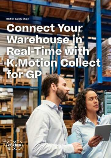 Connect Your Warehouse in Real-Time with K.Motion Collect for GP Brochure